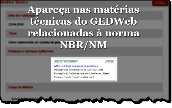 Detalhe Matérias - GEDWeb