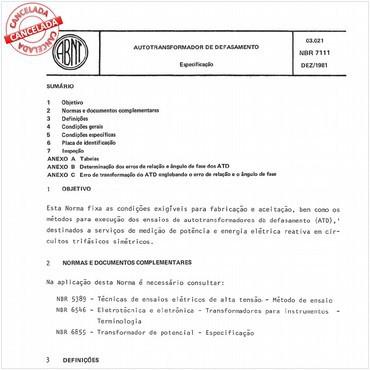 NBR7111 de 12/1981