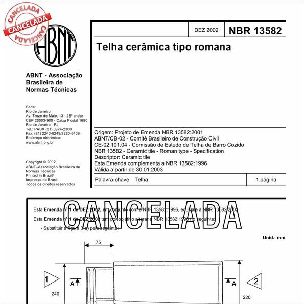 NBR13582 de 11/2005