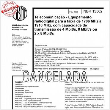 NBR13562 de 02/1996