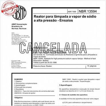 NBR13594 de 04/1996