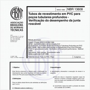 NBR13608 de 05/1996