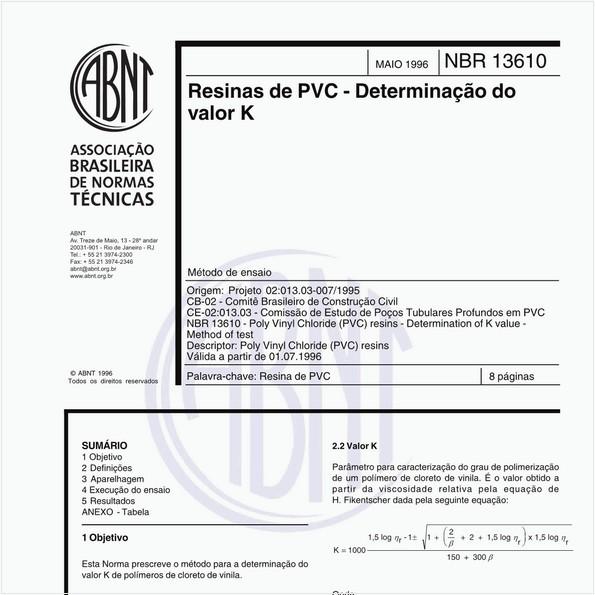 NBR13610 de 05/1996