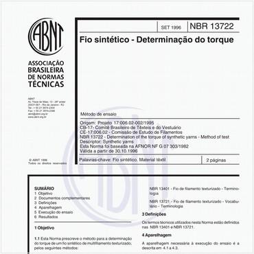 NBR13722 de 09/1996