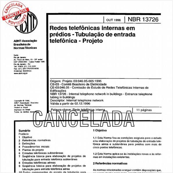 NBR13726 de 10/2012