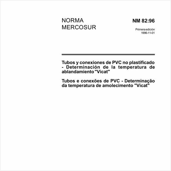 """Tubos e conexões de PVC - Determinação da temperatura de amolecimento """"Vicat"""""""