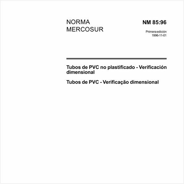 Tubos de PVC não plastificados - Verificação dimensional