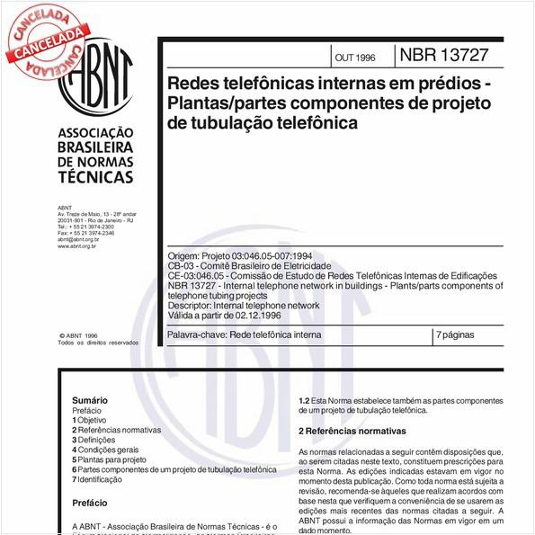 NBR13727 de 10/2012
