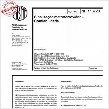 NBR13728 de 10/1996