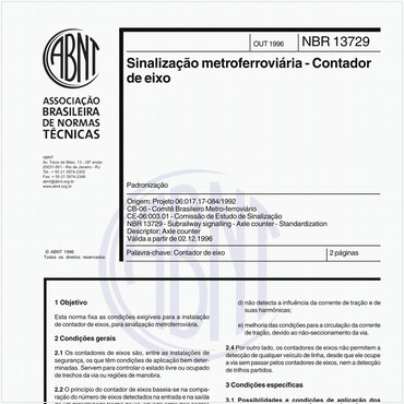 NBR13729 de 10/1996