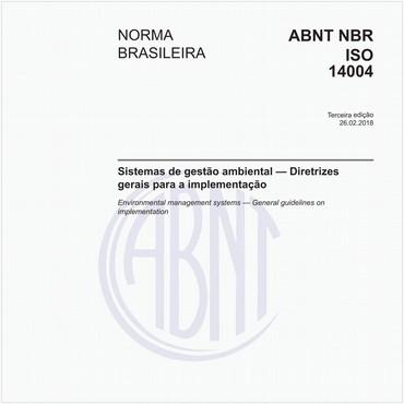 NBRISO14004 de 02/2018