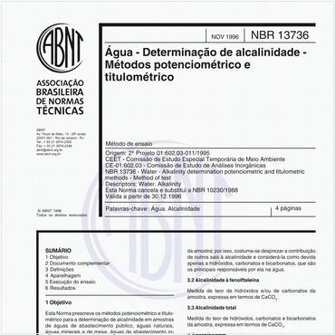NBR13736 de 11/1996