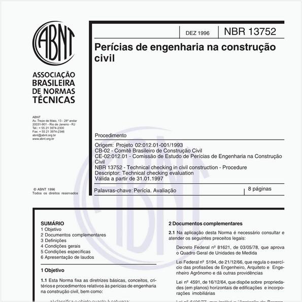 NBR13752 de 12/1996