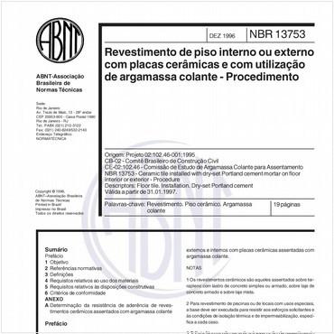 NBR13753 de 12/1996