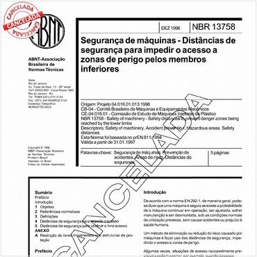 NBR13758 de 12/1996