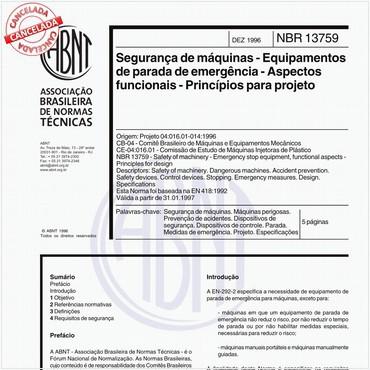 NBR13759 de 12/1996