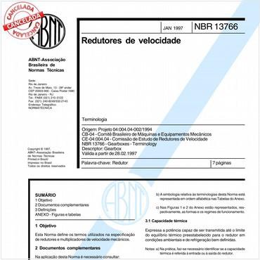 NBR13766 de 01/1997