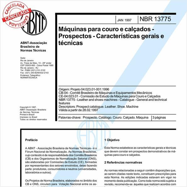 NBR13775 de 08/2016