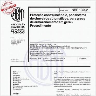 NBR13792 de 03/1997