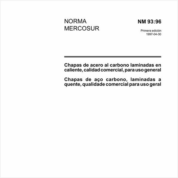 Chapas de aço-carbono, laminadas a quente, qualidade comercial para uso geral