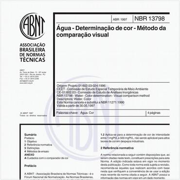 NBR13798 de 04/1997