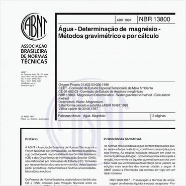 NBR13800 de 04/1997