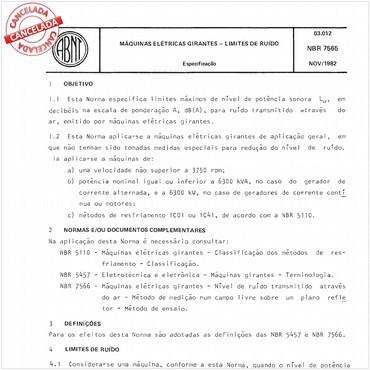 NBR7565 de 11/1982