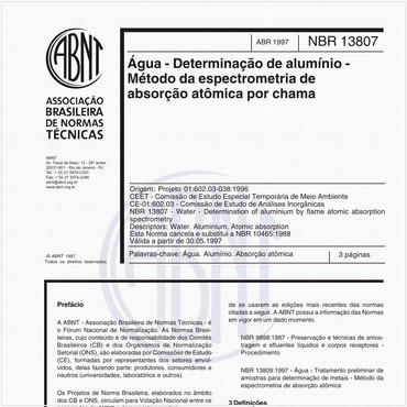 NBR13807 de 04/1997
