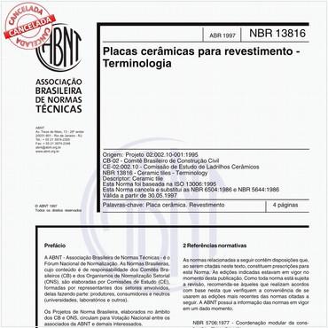 NBR13816 de 04/1997