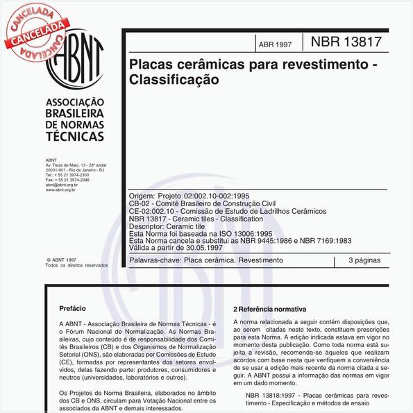 NBR13817 de 04/1997