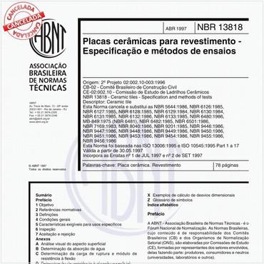 NBR13818 de 04/1997