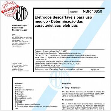 NBR13850 de 04/1997