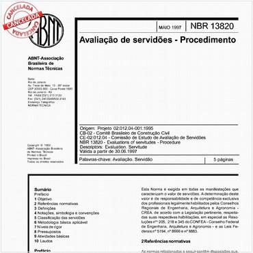 NBR13820 de 05/1997