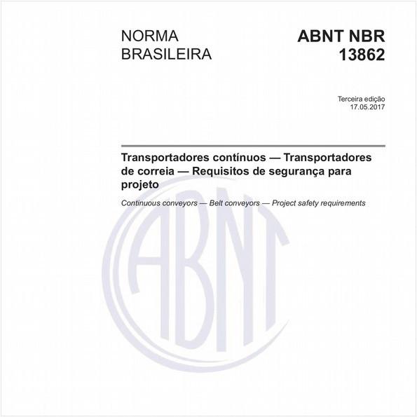 Transportadores contínuos — Transportadores de correia — Requisitos de segurança para projeto