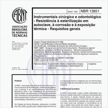 NBR13851 de 05/1997