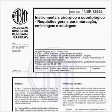 NBR13852 de 05/1997