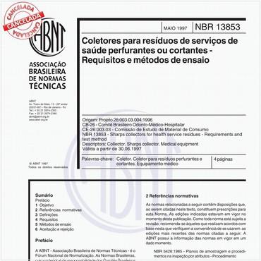 NBR13853 de 05/1997