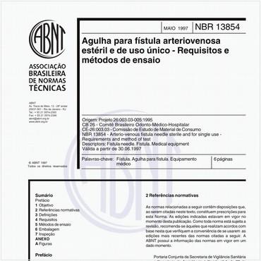 NBR13854 de 05/1997