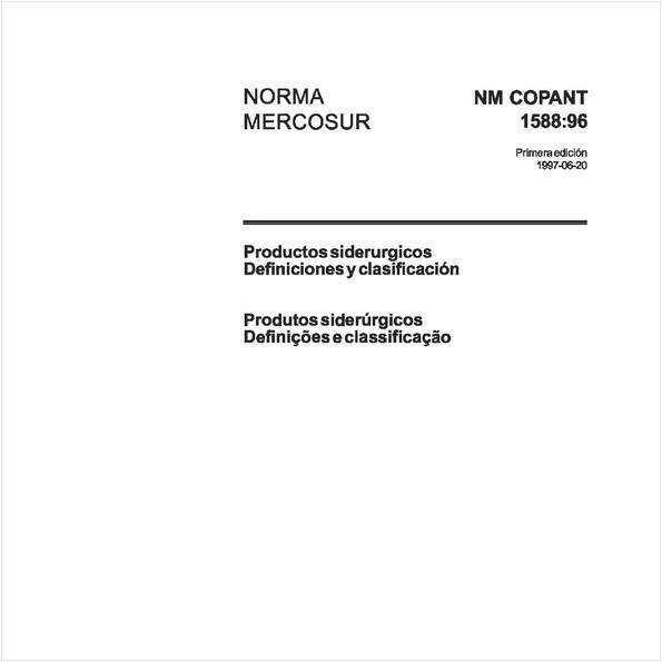 Produtos siderúrgicos - Definições e classificação