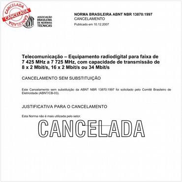 NBR13870 de 06/1997