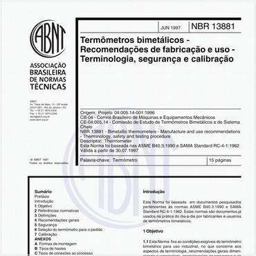 NBR13881 de 06/1997