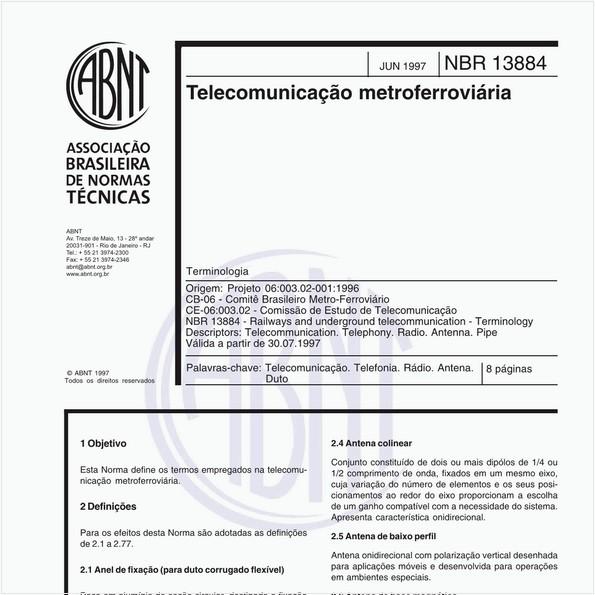 Telecomunicação metroferroviária