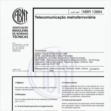 NBR13884 de 06/1997