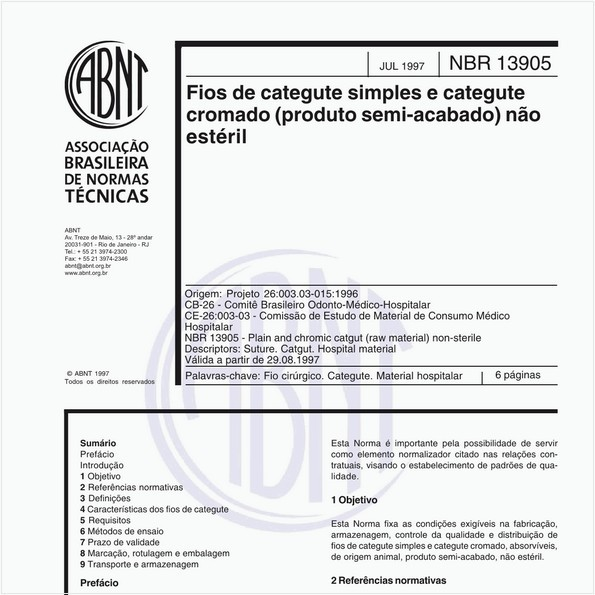 Fios de categute simples e categute cromado (produto semi-acabado) não estéril