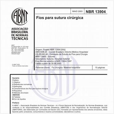 NBR13904 de 05/2003