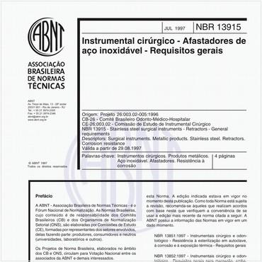 NBR13915 de 07/1997