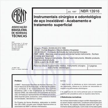 NBR13916 de 07/1997