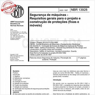 NBR13928 de 08/1997