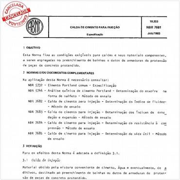 NBR7681 de 01/1983