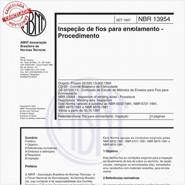 NBR13954 de 09/1997